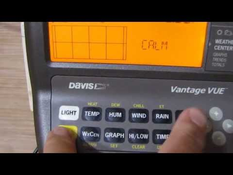Davis Vantage Vue Console 6351  Weather Station  Hidden Tricks  By KVUSMC