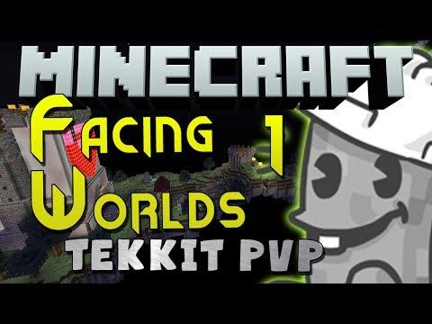 Minecraft Tekkit PvP - Facing Worlds: Part 1