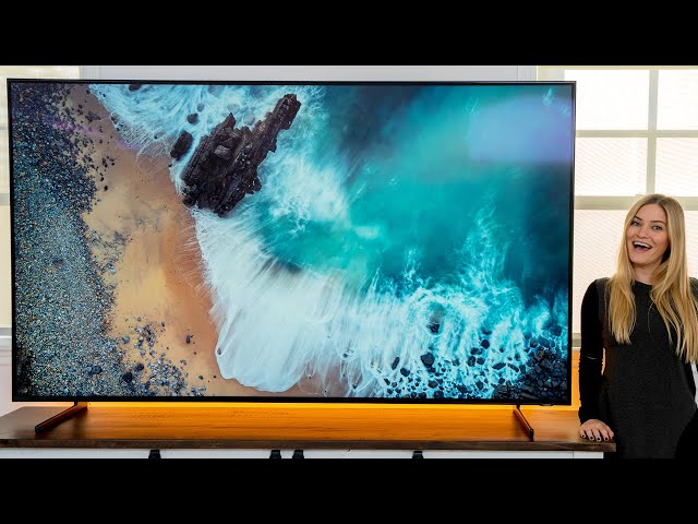 Massive 82 in Samsung QLED 8K with Apple TV unboxing!