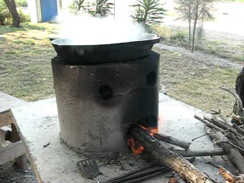 Cement Rocket stove modified