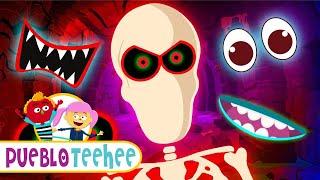 ¡Vamos a Encontrar las Partes de la Cara de un Esqueleto!   Pueblo Teehee