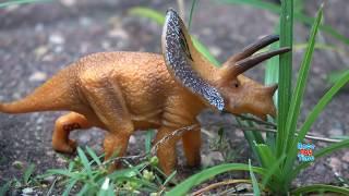 Dino Attack Adventure! Predator vs. Prey! Fun Dinosaurs Toys Video For Kids