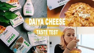 Vegan Cheese Taste Test Review Trying The New Daiya Cheese
