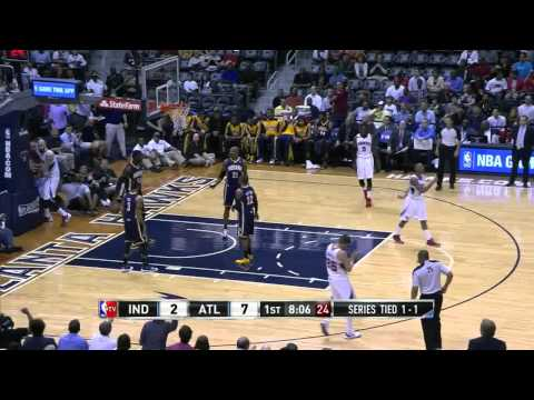 NBA, playoff 2014, Pacers vs. Hawks, Round 1, Game 3, Move 2, Roy Hibbert, foul