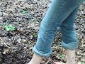 Barefoot Teen Girl in mud - Blote Voeten in Modder - Part 1 Video
