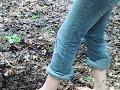 Barefoot Teen Girl in mud - Blote Voeten in Modder - Part 1 Video