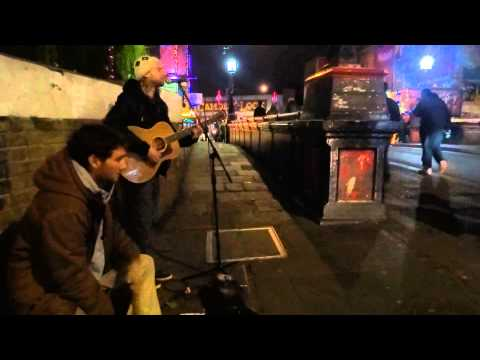 """""""Fountain of Life"""" & """"I want it to be done"""" Roots Reggae sung by Sebastian on Camden Market, London."""
