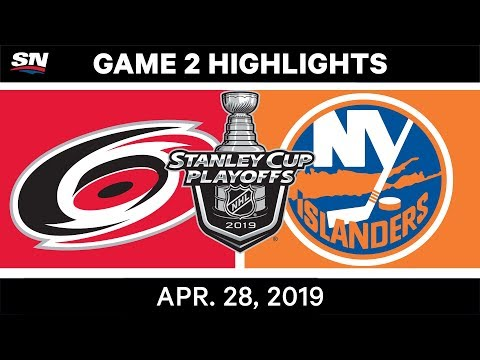 NHL Highlights | Hurricanes Vs. Islanders, Game 2 - April 28, 2019