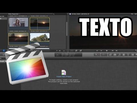 Final Cut Pro X - #8: Edición de texto