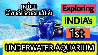 Underwater tunnel - India's 1st under waterAquarium - VGP Marine kingdom- Best holiday Spot RJ