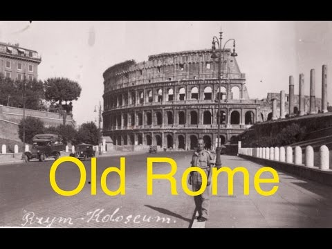 Rome in the late 1930's PreWII - Old Amateur Footage