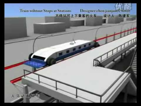 Chinese Concept - The train that never stops at a station - cool!