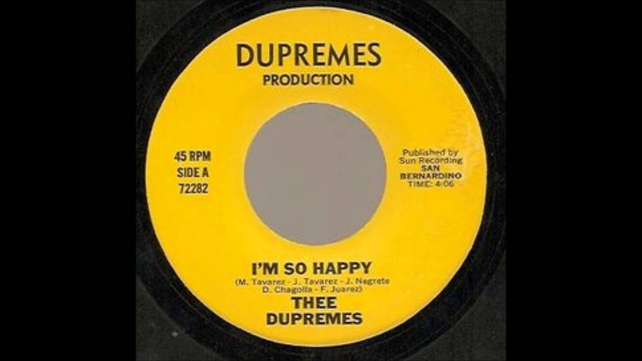 Thee Dupremes - I'm So Happy / So In Love With You