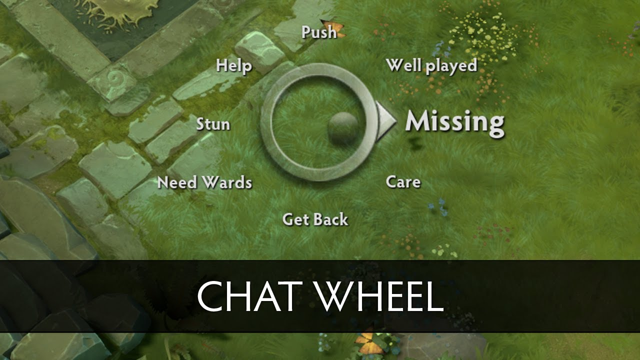 how to use chat wheel in dota 2