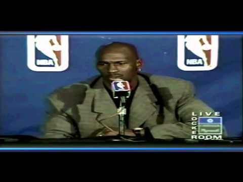 Michael Jordan - Chicago Bulls 70th Win Post-Game Interview