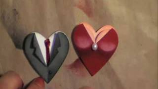 Valentine / Wedding Heart Punch Couple