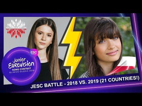 [JESC BATTLE (21 COUNTRIES!)] - JUNIOR EUROVISION 2018 VS. JUNIOR EUROVISION 2019