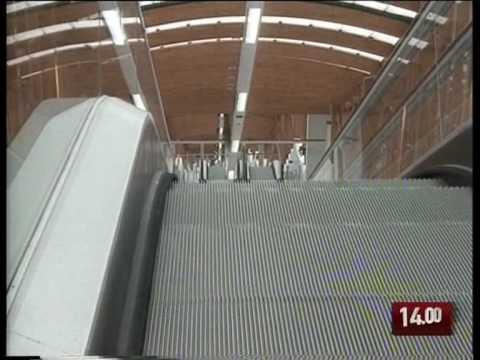 TG 16.01.10 Le scale mobili più lunghe d'Europa sono a Potenza