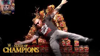 Heath Slater shatters wall of Skittles on WWE Watch Along: Clash of Champions 2019