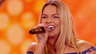 Incredible Voice Of 17 Year Old Girl Louisa - Singing On X Factor!