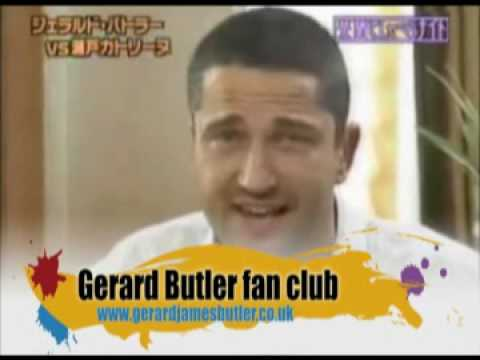 Gerard Butler interview talking in Japanese and Scottish accent