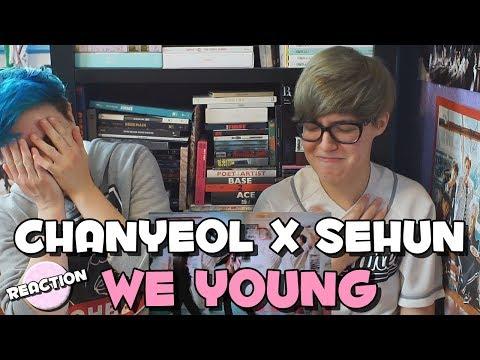 CHANYEOL (찬열) X  SEHUN (세훈) - WE YOUNG ★ MV REACTION