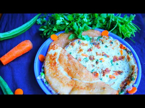 Egg Dosa How To Make Egg Dosa Recipe / Onion Dosa Easy Cooking preparation by Naveena Pujari