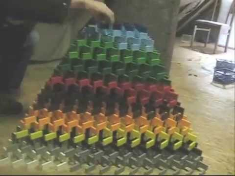 Big 3D domino pyramid. Feb 7, 2008 9:59 AM
