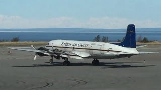 Alaska Classic! Everts Air Cargo DC6 departs from Anchorage - N151.