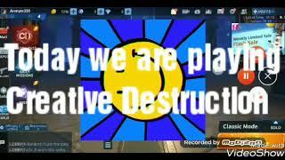Creative destruction game play (pro player).
