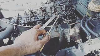 DIESEL ENGINE VALVE CLEARANCE ADJUSTMENT