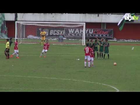 Highlight Uji Coba Pra Musim 2017 - PSS Sleman vs Bali United (2-1)