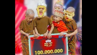 5 chú Tiểu thắng 100 triệu Thách Thức Danh Hài ( Hành Trình tìm về Tịnh Thất Bồng Lai)