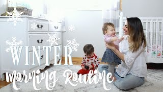 WINTER MORNING ROUTINE BABY & TODDLER 2018! Solo (not single) Mom | grace for the day