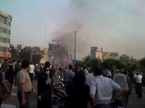 دفاع مردم post-election unrest in Iran Tehran Tazahorat Part2 تظاهرات در تهران