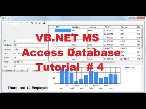 VB.NET MS Access Database Tutorial 4 # How to use Chart /Graph with local database in VB.NET