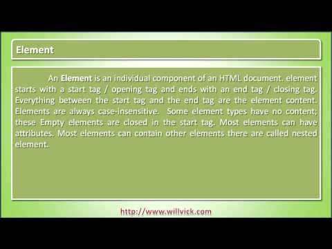 Element – HTML Tutorial with example – willvick.com