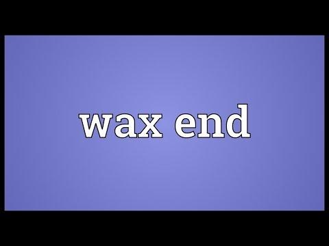 Header of wax end