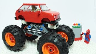 Lego Spiderman Brick Building Experimental Car Monster Truck for Kids