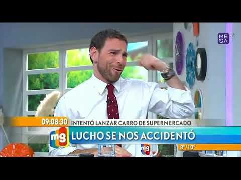 chascarro lucho jara se accidenta en pleno programa