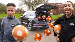 CRAZY OVERPOWERED FOOTBALL CAR BOOT CHALLENGE