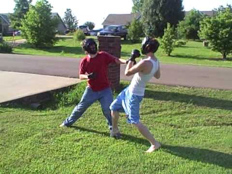 Front yard UFC Fight
