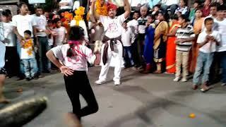 इंदौर झांकी । बहुत ही शानदार कला का प्रदर्शन । अखाड़ा