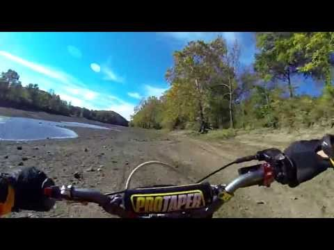 Pit Bike Trail Riding - Crybaby Campground - River Bottom MX - Osage Beach