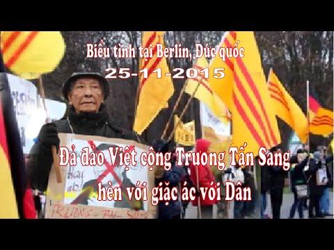 Bieu tinh Đả đảo Việt cộng Trương Tấn Sang tại Berlin -25-11-2015