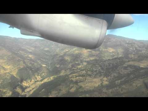 nepal airlines landing at khanidanda