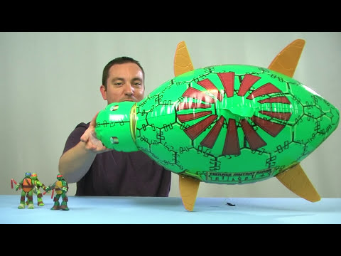 Nickelodeon Teenage Mutant Ninja Turtles High Flyin' Turtle Blimp Video Review