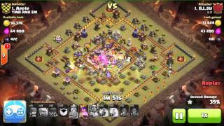 Clash of Clans - 3 golem full witches clear Hall 11 3 star