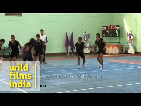 Girls Kabaddi final between Maharashtra and West Bengal
