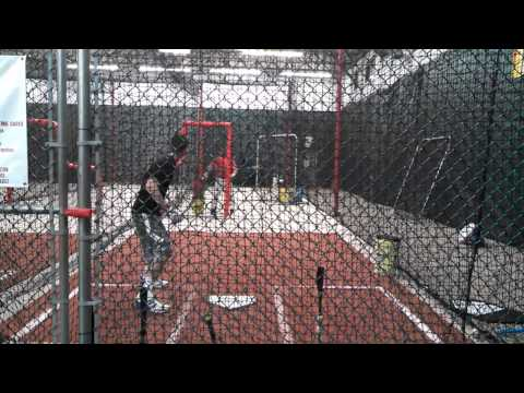 Nick Perez (2015 SS, The Hun School of Princeton) Hitting (Jan. 2, 2014)